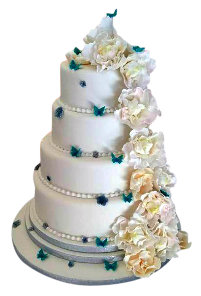 peony_and_butterfly_wedding_cake