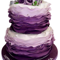purple_ombre_ruffle_wedding_cake