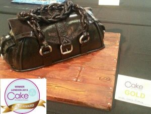 2nd Gold award handbag cake