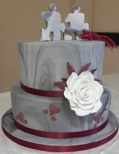 wedding cake pieces puzzle pieces wedding cake puttycakes 23455